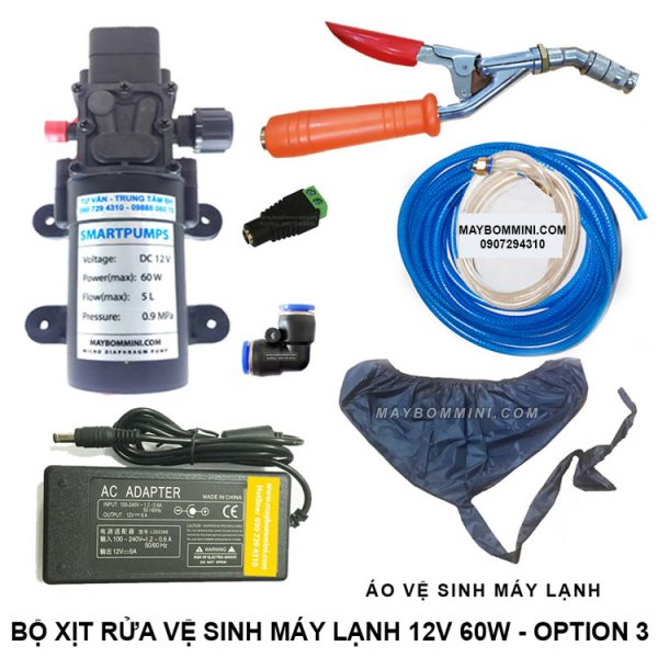 Bo Xit Rua Ve Sinh May Lanh 12v 60w Option 3