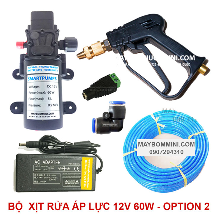 Bo Xit Rua Xe Mini 12v 60w Option 2