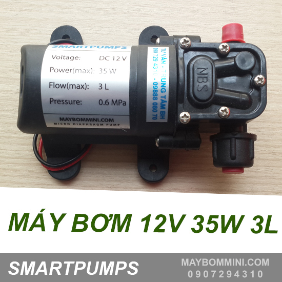 May Bom Ap Luc Mini 12v 35w