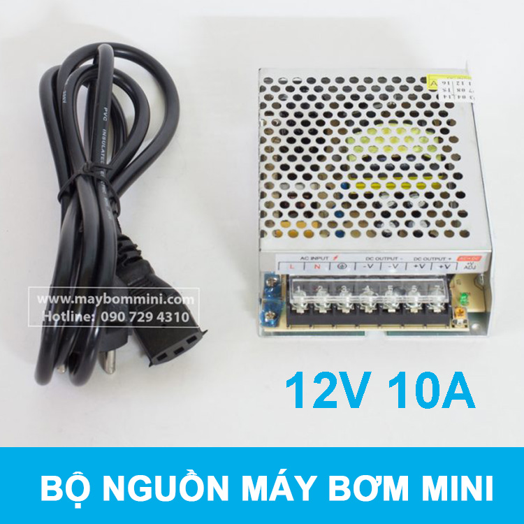 Nguon Dien Bien The May Bom Mini 12v 10a