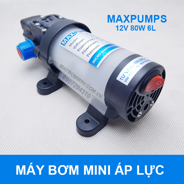 May Bom Nuoc Mini 12v Ap Luc